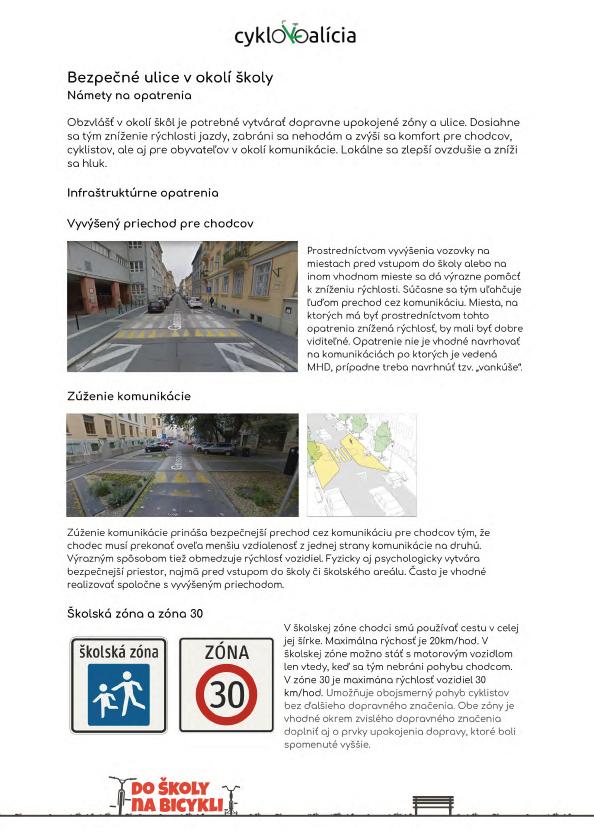 Bezpečné ulice v okolí školy