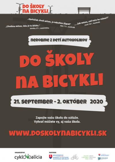 Plagát Do školy na bicykli_hnedé pozadie_PDF