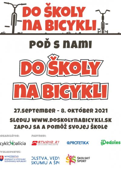 Plagát Do školy na bicykli verzia 1