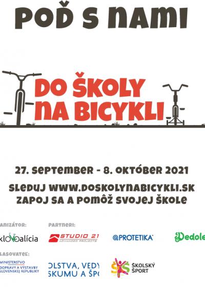 Plagát Do školy na bicykli verzia 2
