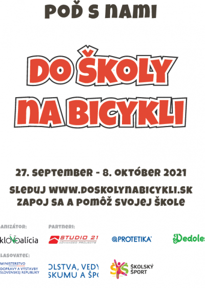 Plagát Do školy na bicykli verzia 3